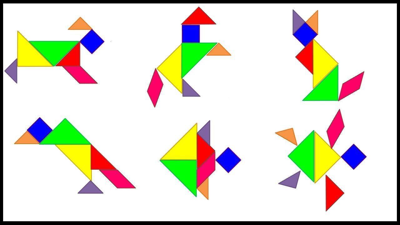 Figuras Para Imprimir Plantillas Incluidas Tangram Departamento Orientacion Figuras Con Tangram Tangram Decoracion De Clase