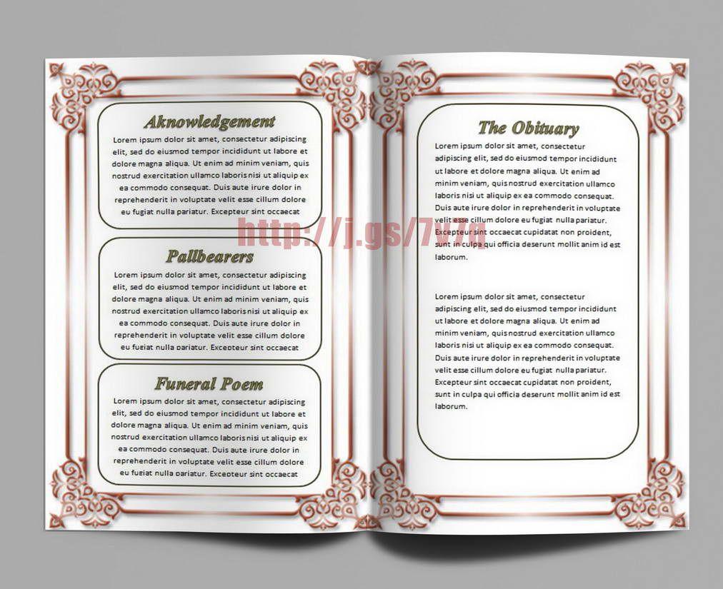 Memorial Order of Service Program Download …   MEMORIAL SERVICE PROG ...