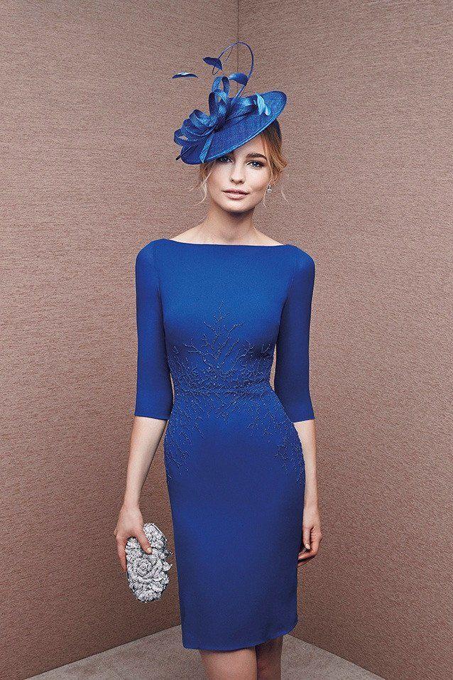 Vestido madrina azul klein