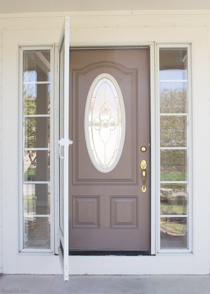 15 Front Door Redo With Faux Etched Glass Painted Front Doors Door Redo Front Door Makeover