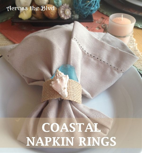 Coastal Napkin Rings Across the Blvd
