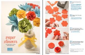 stampin up paper flowers tutorial