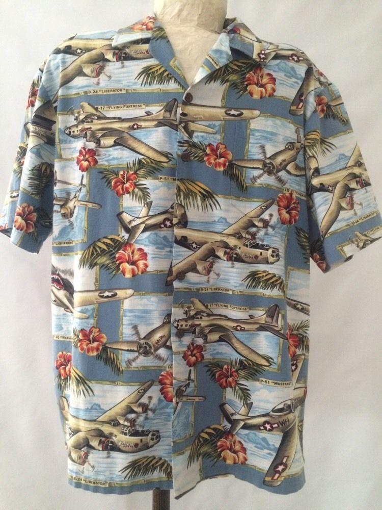 6ad9cbde Kalaheo Men's Hawaiian Shirt - WWII Plane Bomber - L #Kalaheo #HawaiianShirt  #WWIIBomber #MensShirt