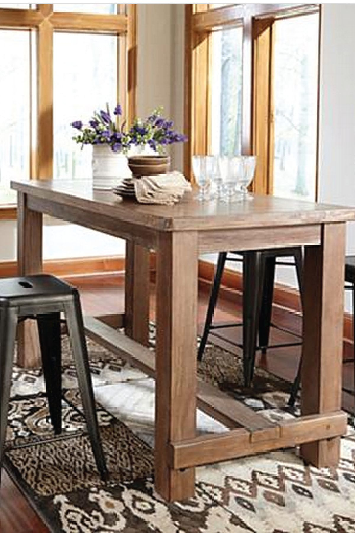 bring this counter height dining room table into your home for a sophisticated and elegant piece of furniture pair it with your favorite stools for a