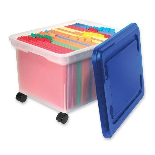 Akro Mils 66486 CLDBL 12 Gallon Plastic Storage KeepBox with
