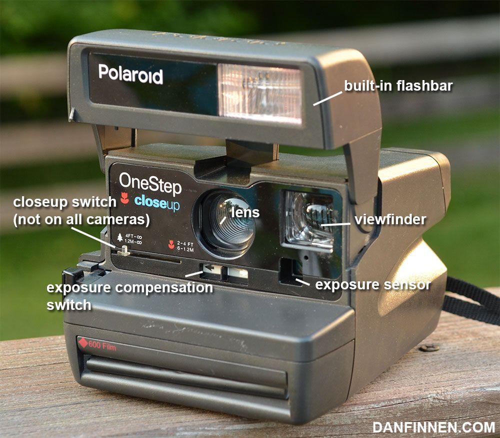 front of the polaroid onestep closeup how to use the camera this rh pinterest com Polaroid OneStep 600 Rainbow Polaroid OneStep 600 Red Stripe