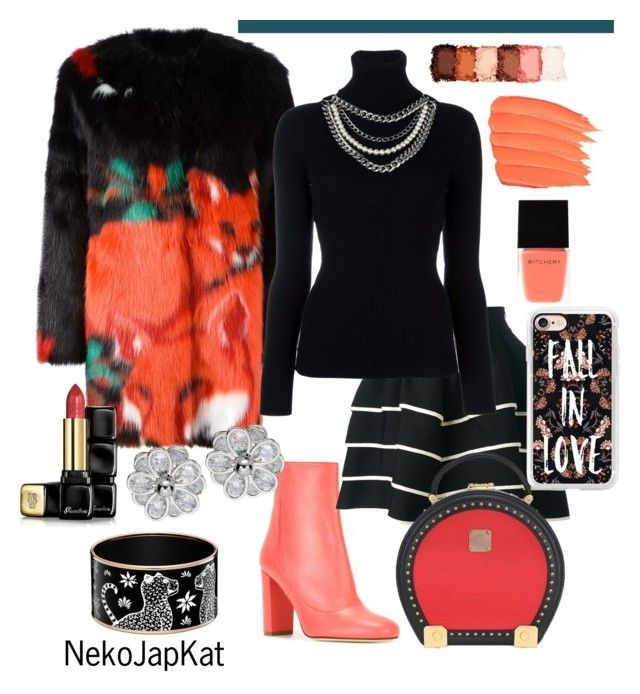 """Fall in Love"" by neko-m-tucker-smith ❤ liked on Polyvore featuring Marco de Vincenzo, M Missoni, FAUSTO PUGLISI, Moschino, MCM, NYX, Witchery, Casetify and Guerlain"