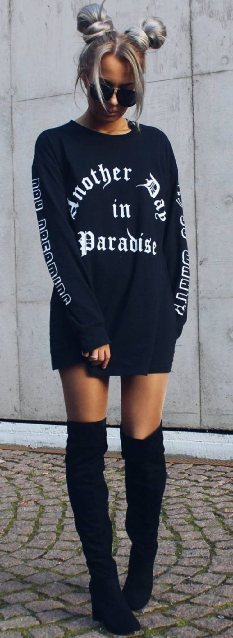 edc706e8f4a Cute Oversized T-Shirts Outfit Styles need to Copy https://fasbest.
