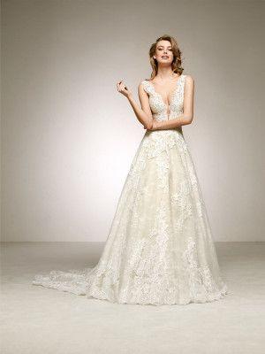 Suknia ślubna Z Dużym Dekoltem Suknie ślubne