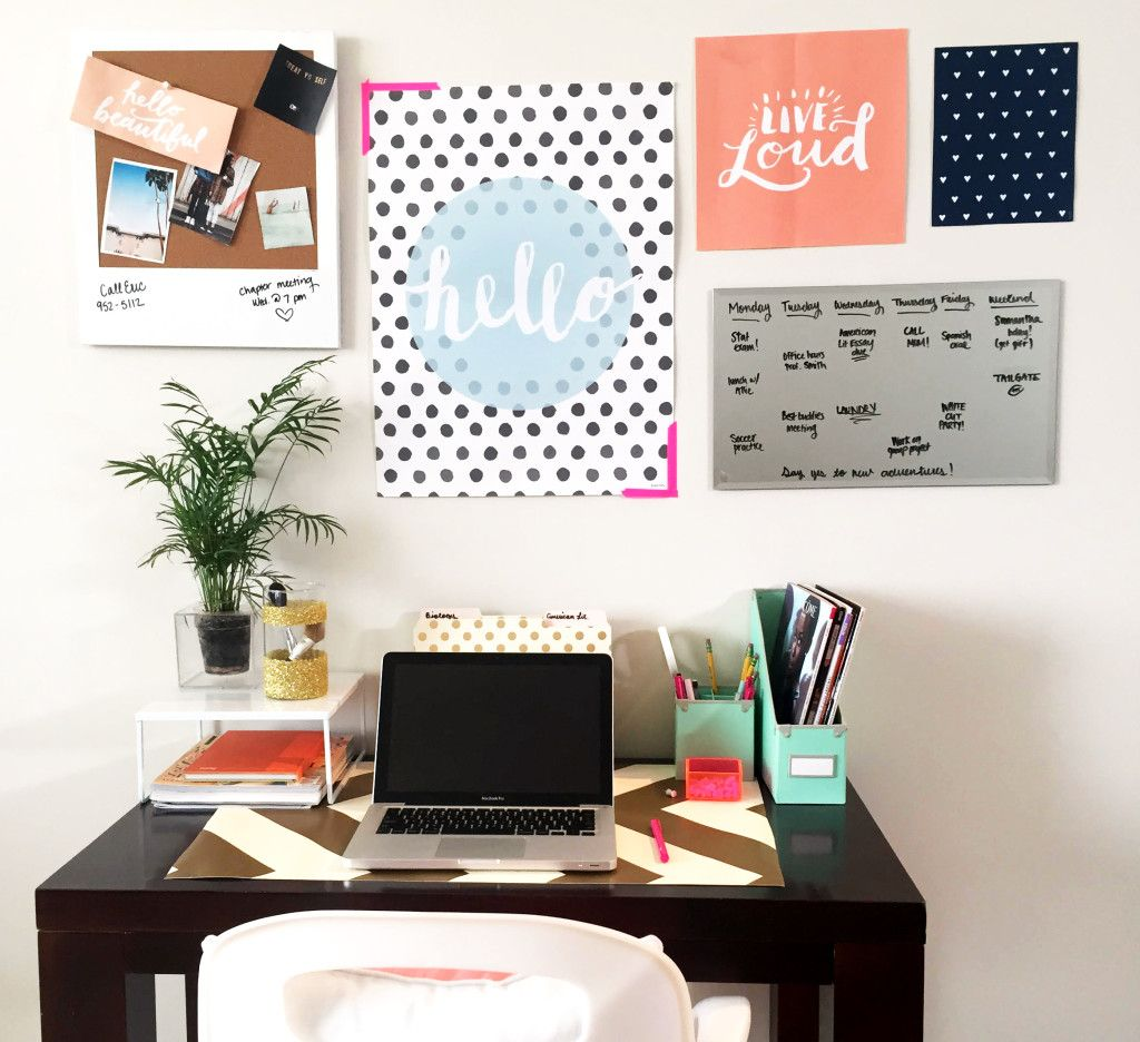 How to Create the Perfect Desk (Video Instructions!) | dormify.com