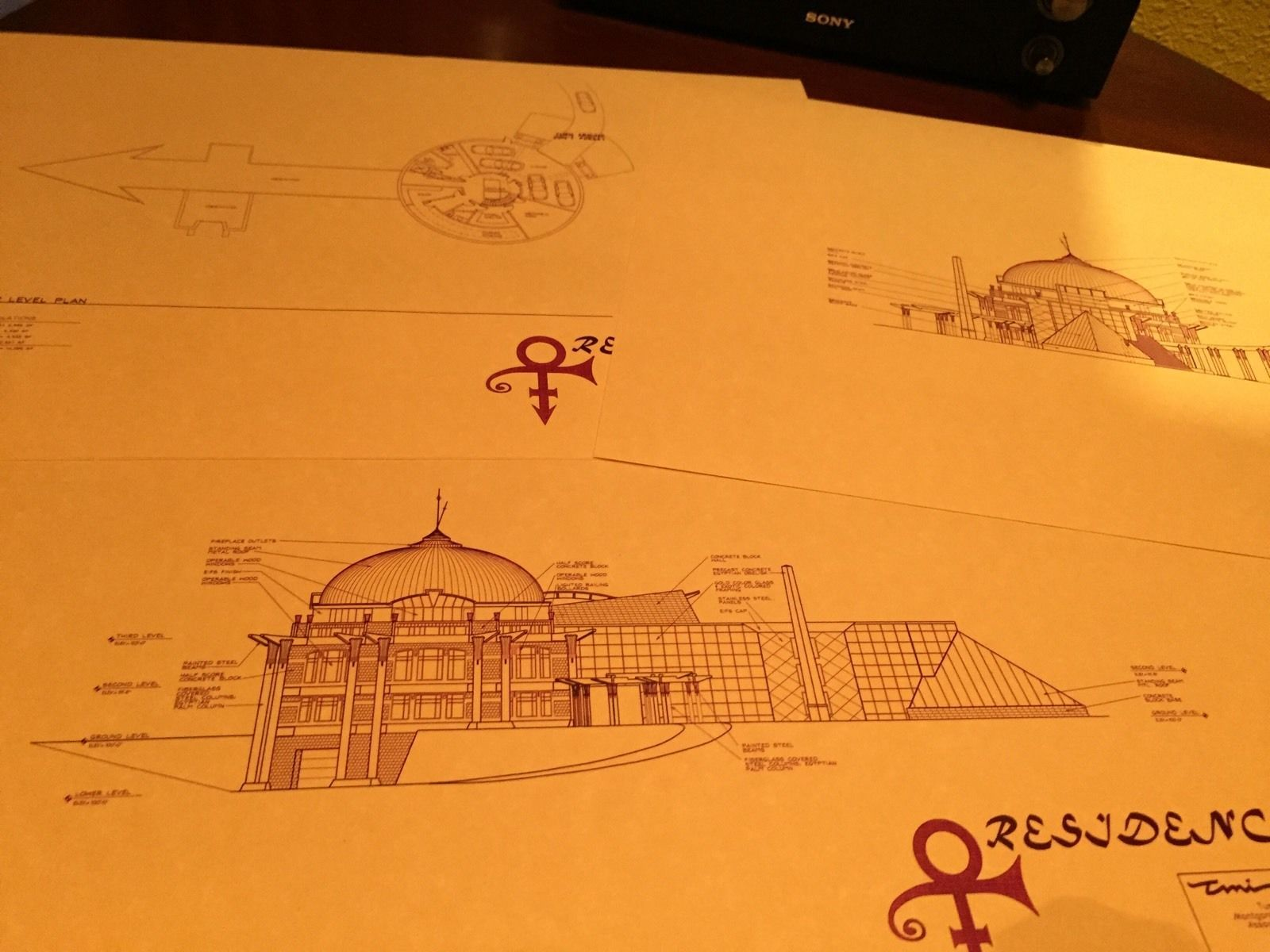 Purple Prince 'Secret' O Symbol House Floor Plans