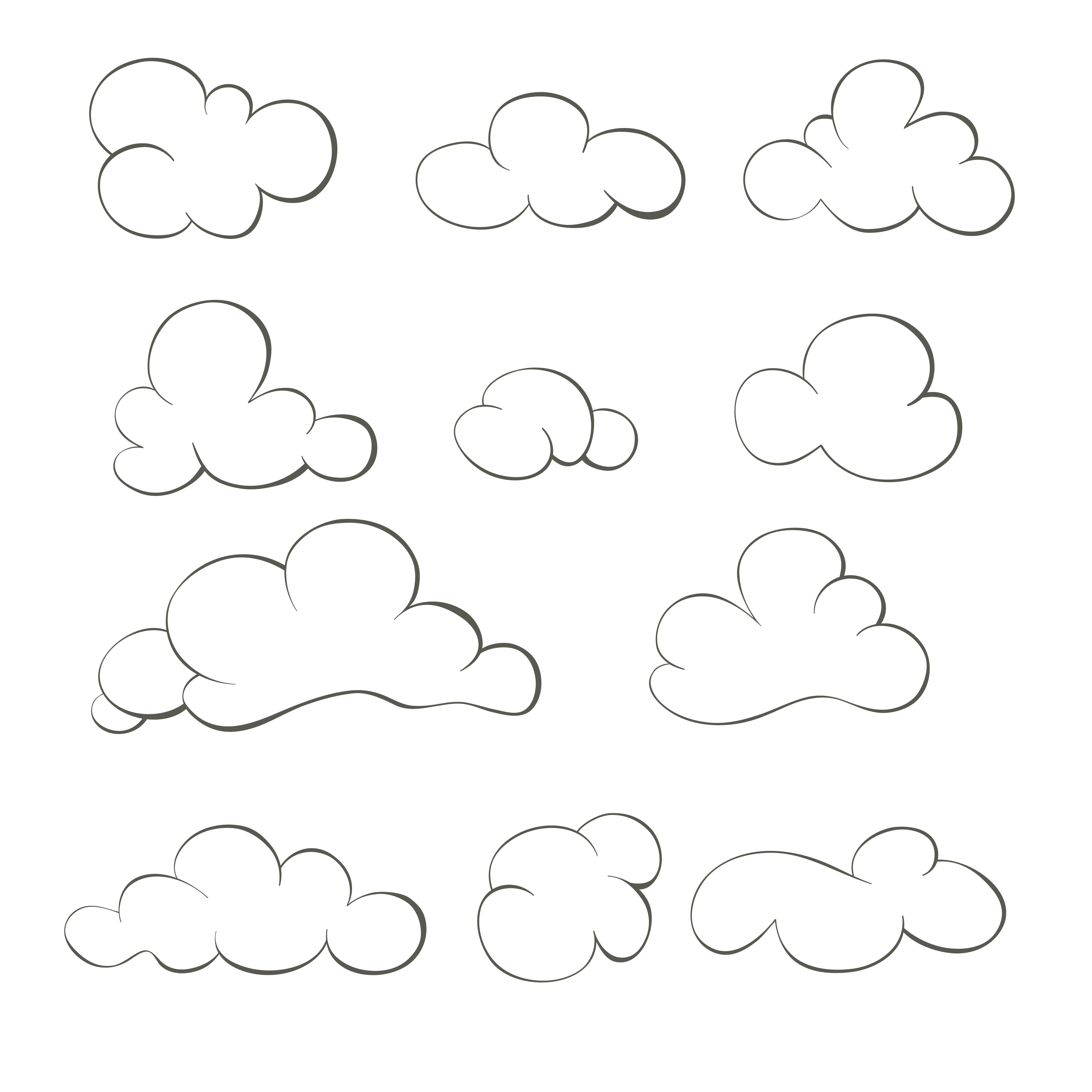Pin By Dara Wirantika On Graphics Design Cloud Illustration Cloud Drawing Cloud Stencil