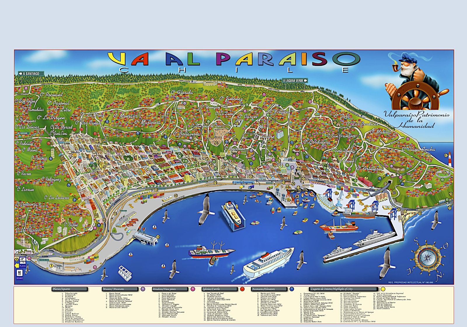 c1d1d8a9649ea www.guia turistica de valparaiso - Buscar con Google Ciudad De Santiago
