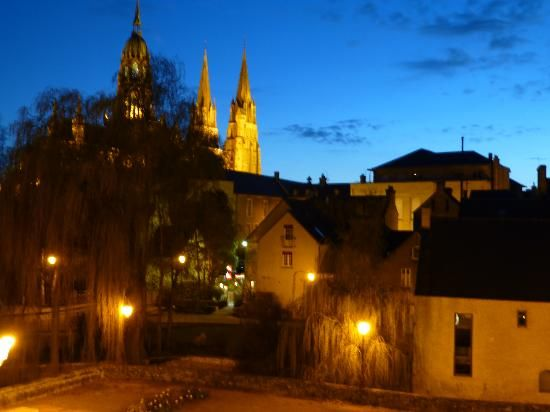 View of Bayeux from the Hotel Villa Lara ~ our entire family LOVED this hotel.