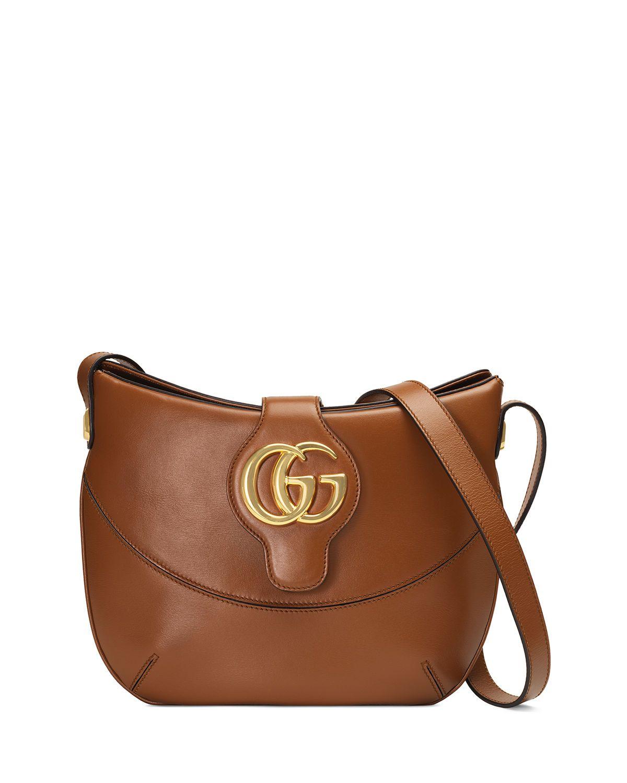 4a91ece27a5 Gucci Arli Medium Leather Shoulder Bag