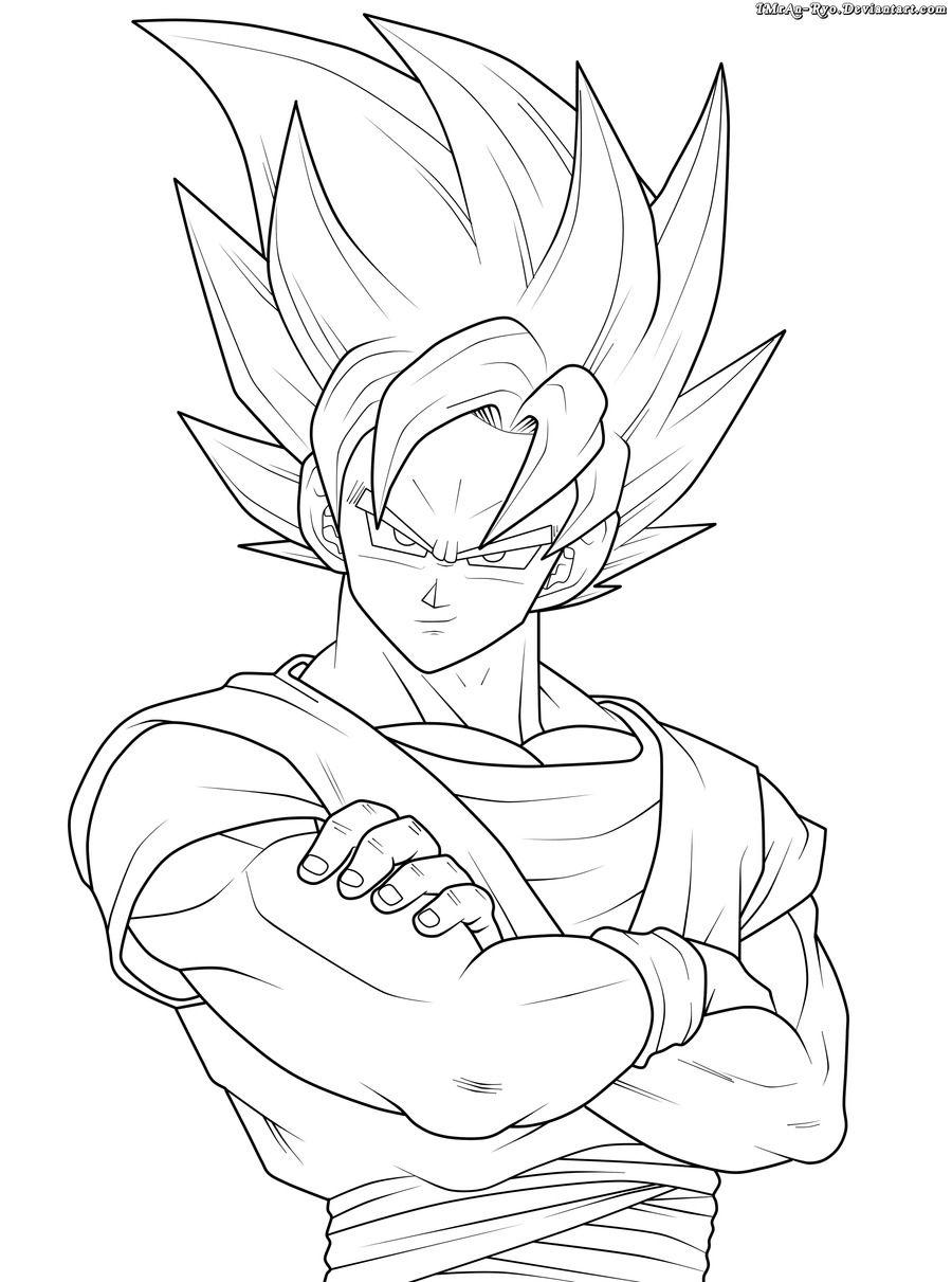 Pin de Pedro R Diniz em Moldes Goku desenho, Desenhos