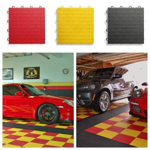 Diamond Top Garage Floor Tiles - Interlocking Flooring by ModuTile