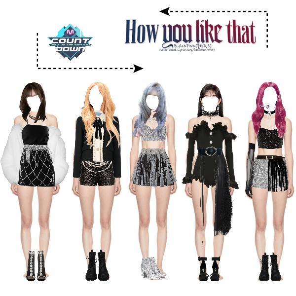 Fashion Set How You Like That Blackpink Outfits Stage Created Via Badass Girl Outfits Kpop Fashion Outfits Kpop Costume