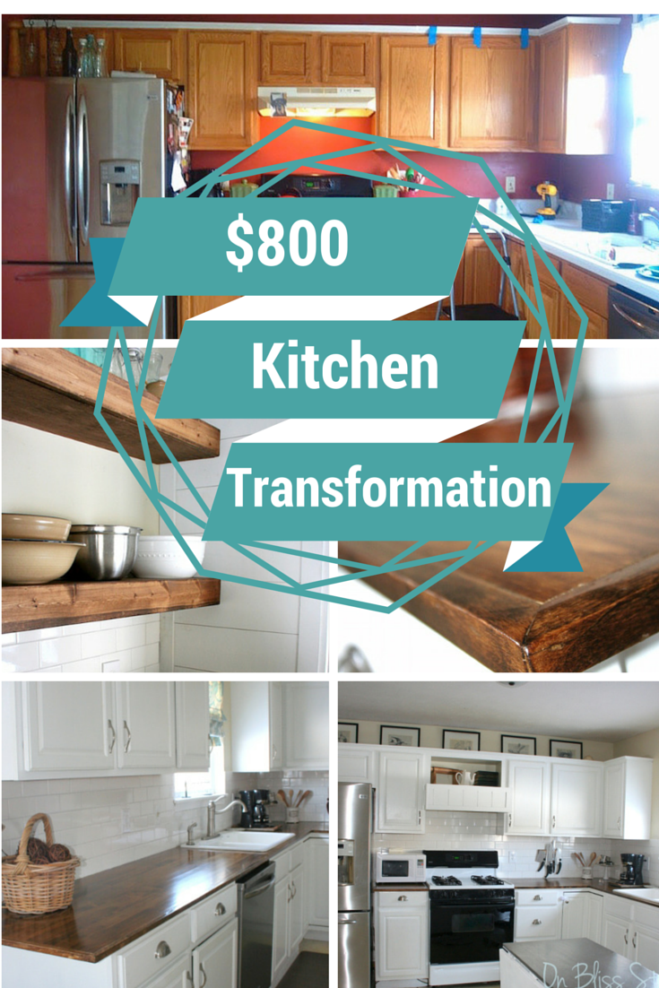 This post shows our budget kitchen transformation for $800 with ...