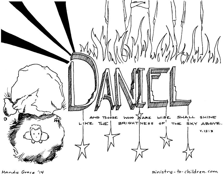 This Free Coloring Page Is Based On The Book Of Daniel It