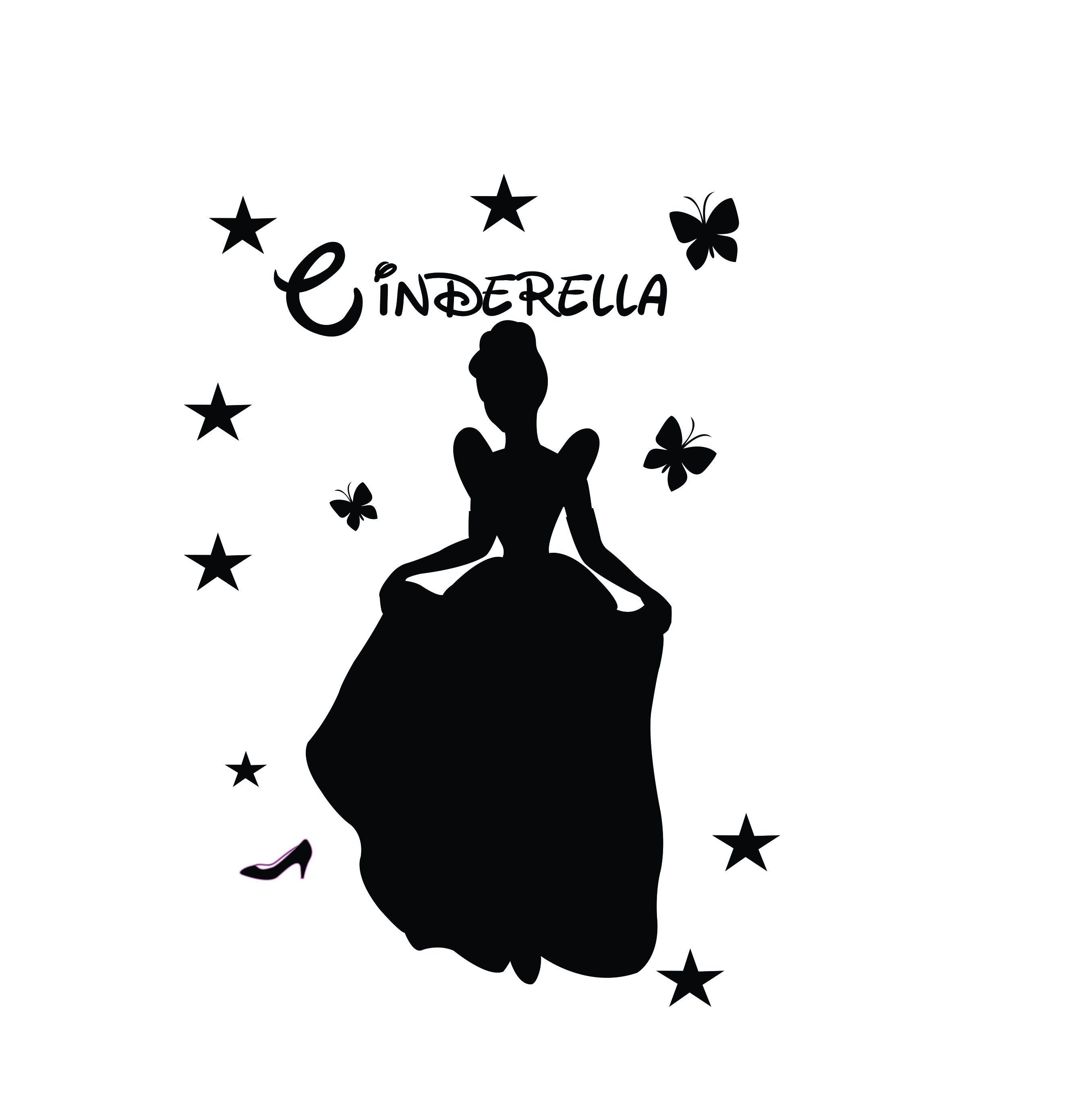 Cinderella Silhouette Vector Svg And Png Digital Download Princess Vector Graphic Silhouette Vector Cinderella Silhouette Vector Svg