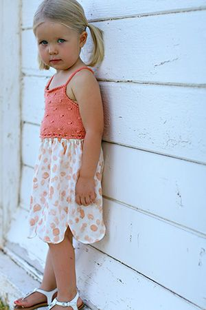 Free Knitting Pattern Toddler Childrens Clothes Flitter Dress