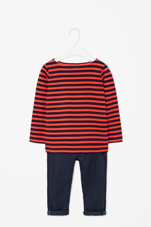 Striped cotton top, COS. 150 kr (minsta storlek 86/92)