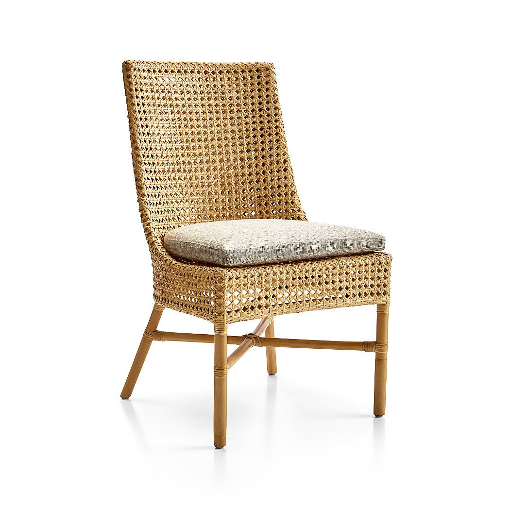 Maluku Natural Rattan Dining Side Chair Reviews Crate And Barrel Side Chairs Dining Rattan Dining Chairs Side Chairs