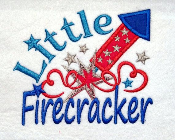 Little Firecracker - machine embroidery designs - 4x4 and 5x7 multiple sizes