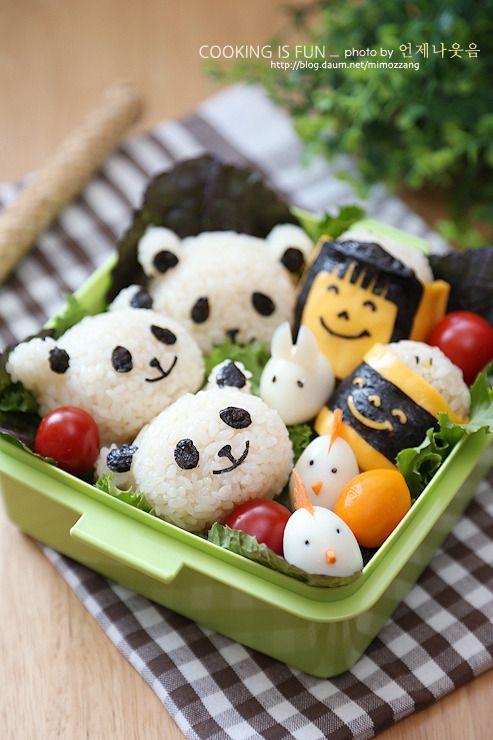 애니멀 도시락?! (팬더곰 주먹밥, 메추리알 닭, 메추리알 토끼) - Daum 미즈쿡
