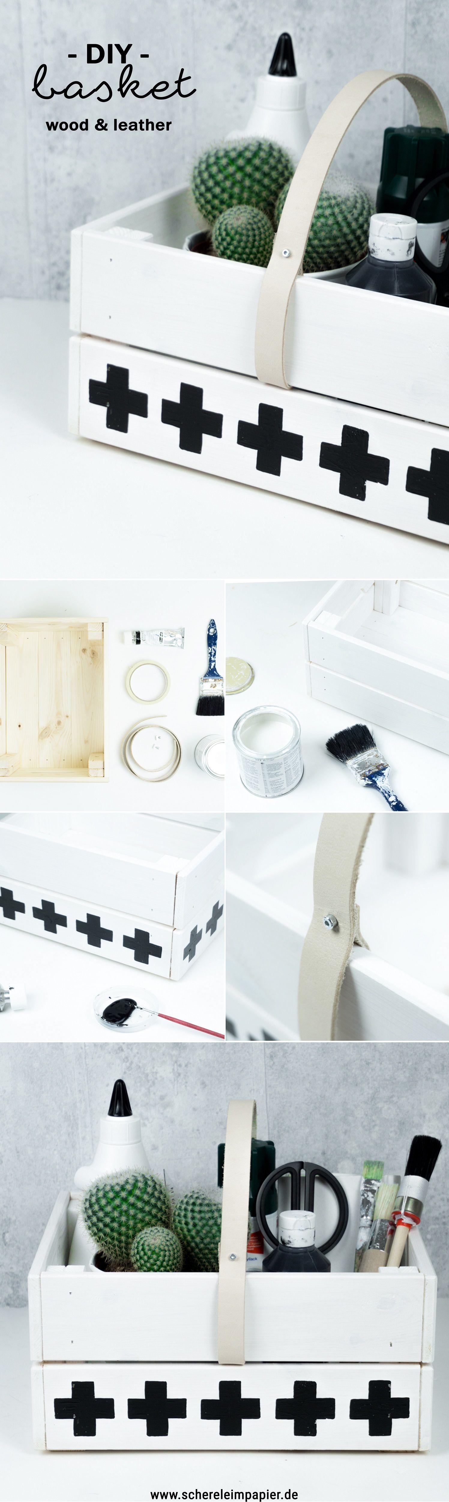 diy holz korb basteln f r picknick oder storage it 39 s. Black Bedroom Furniture Sets. Home Design Ideas
