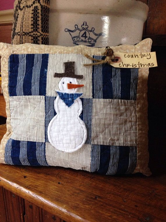 Primitive Country Christmas Pillow TuckCowboy by MrsVsPrims