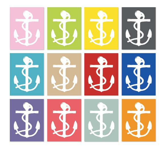 Anchor Wall Art Print Nautical Home Decor