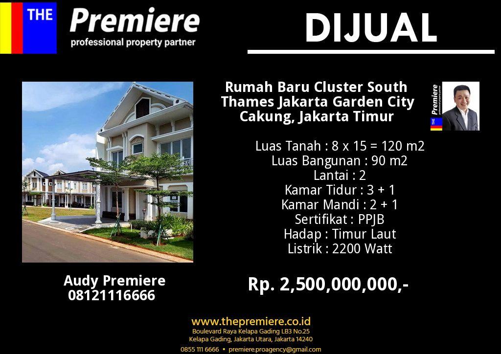 Rumah Baru Cluster South Thames Jakarta Garden City rumah