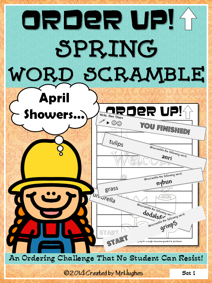 Welcome to a fun SPRING themed edition of ORDER UP! Your students will have to use their word skills as they work to unscramble SPRING related words AND complete an assignment. This is sure to be a hit that will have your little farmers ready for more! ($)
