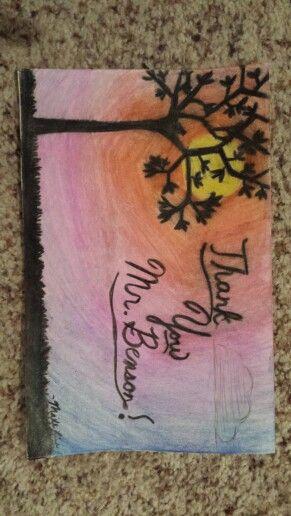 Thank you card for a teacher.  ~Maile