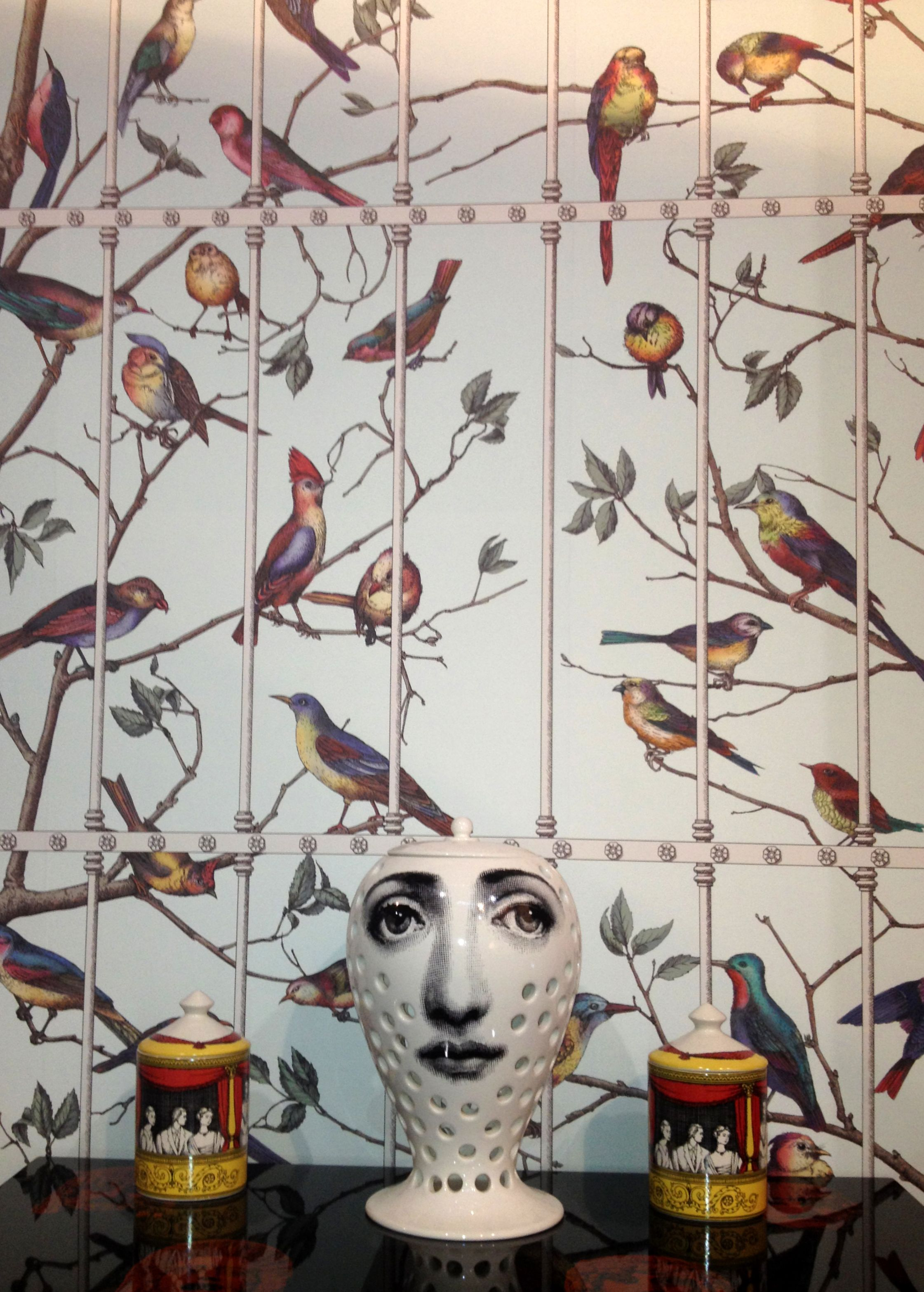 Our Stand At Maison Fornasetti II Uccelli Wallpaper By Cole Son Birds On