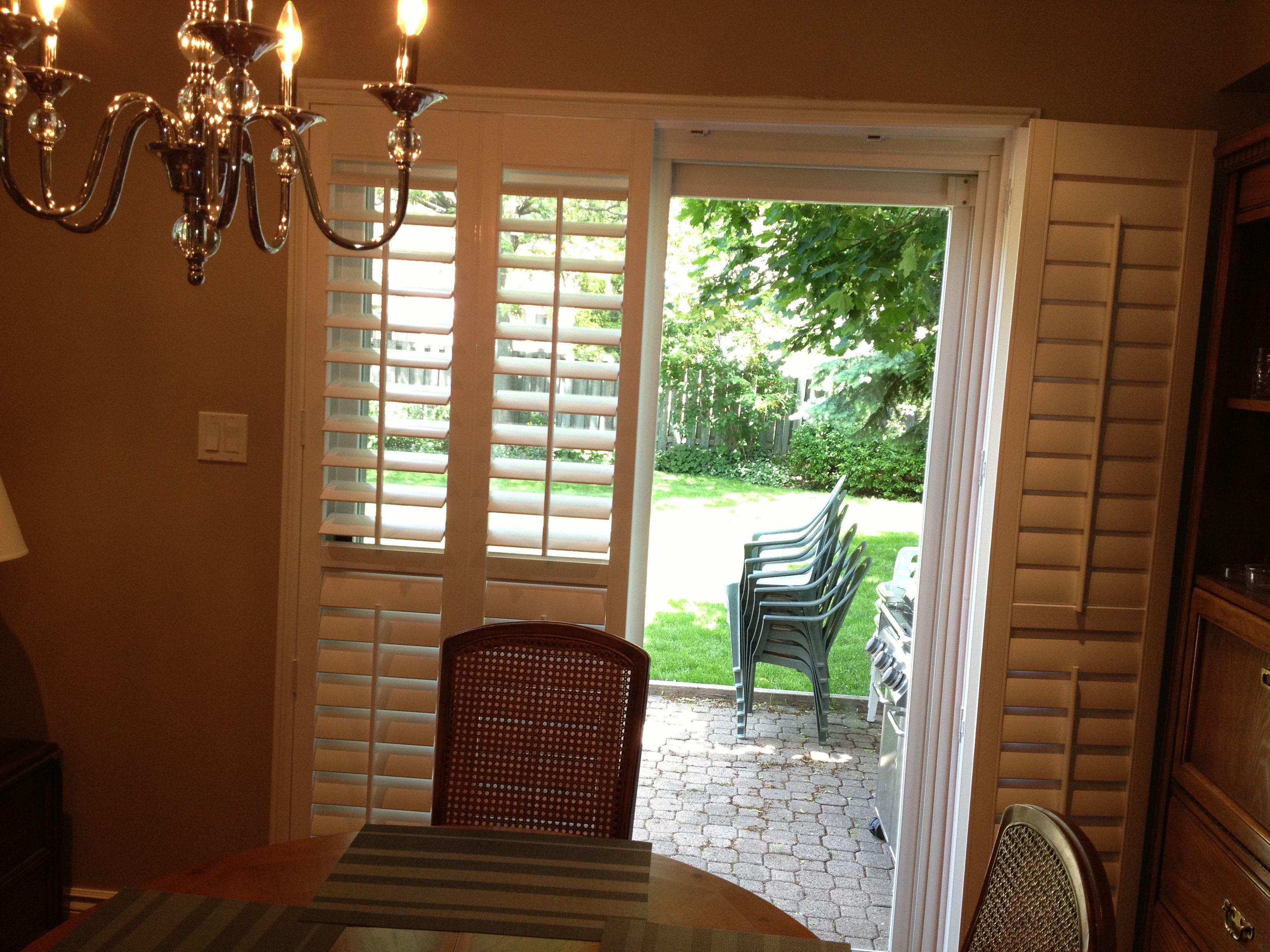 Bifold Shutters Popular For Patio Doors Because They Fold Back Off