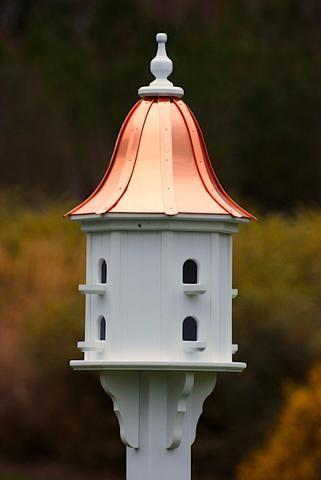 Copper Roof Dovecote Birdhouse 36x14 8 Perches Copper Roof Unique Bird Houses Bird Houses