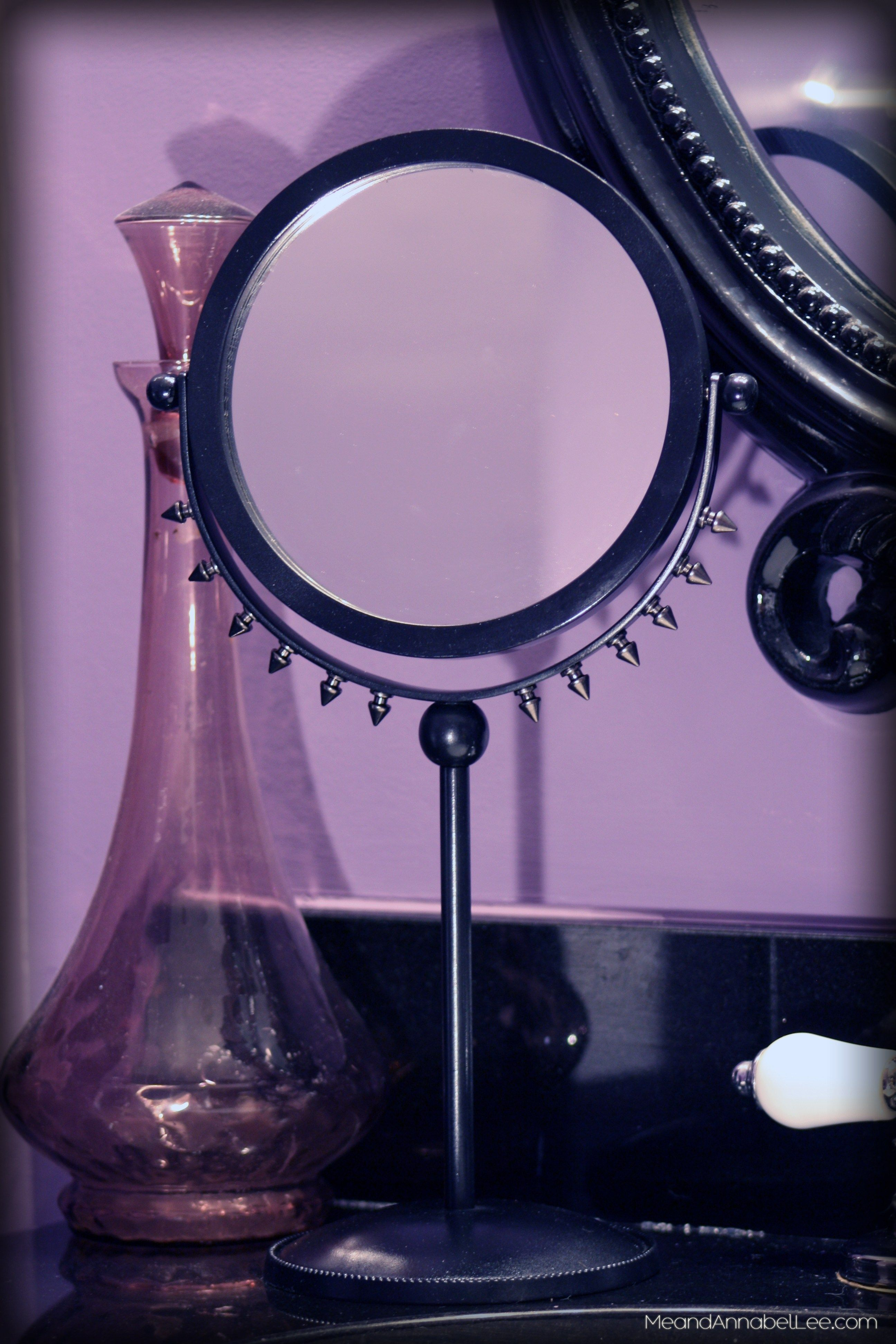 DIY Black Spiked Makeup Mirror Goth it Yourself! Diy