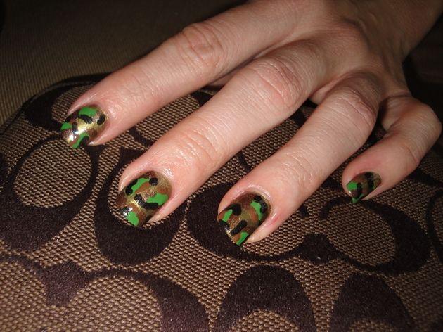 Camoflague Queen Camo Queen Nail Art Designs Photos Places To