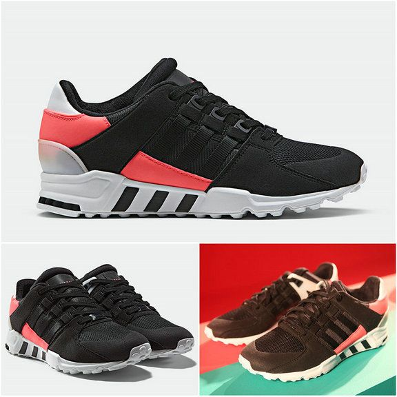 sports shoes b9233 4e271 Hot Sale 2017 UK Trainers ADIDAS EQT SUPPORT 93 Core Black Turbo Red 2017  Spring Summer