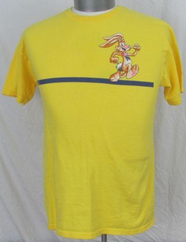 f854fff3805 EUC-Powered-By-Nesquik-T-Shirt -Mens-Medium-Quik-Rabbit-Yellow-Promotional-Advert