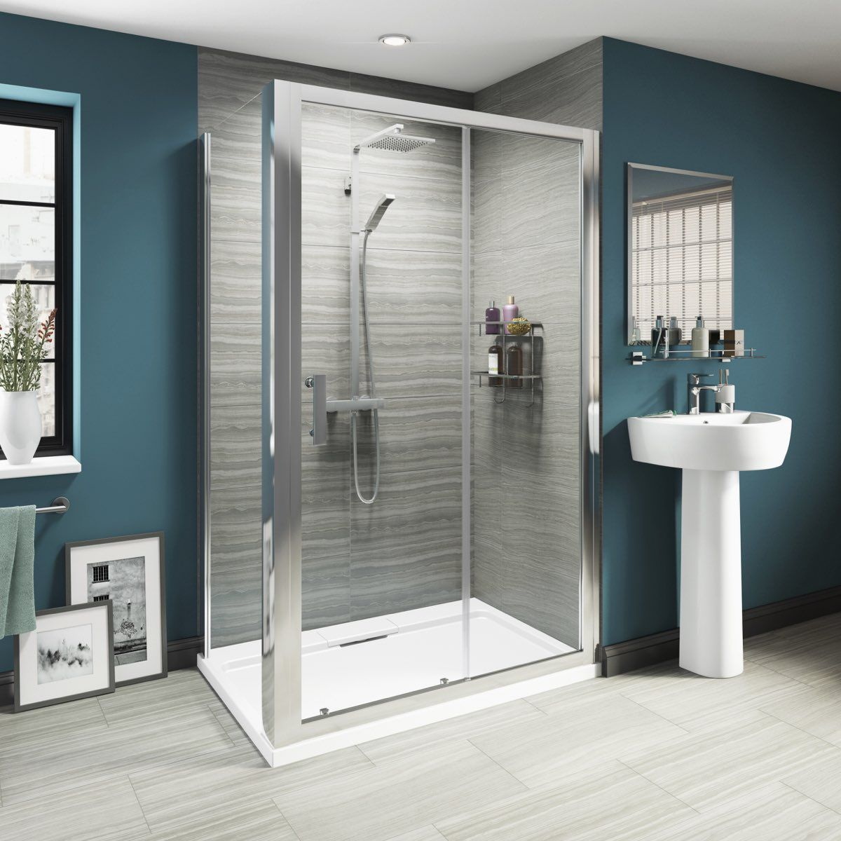 Luxury 8mm sliding door shower enclosure offer pack | Shower ...