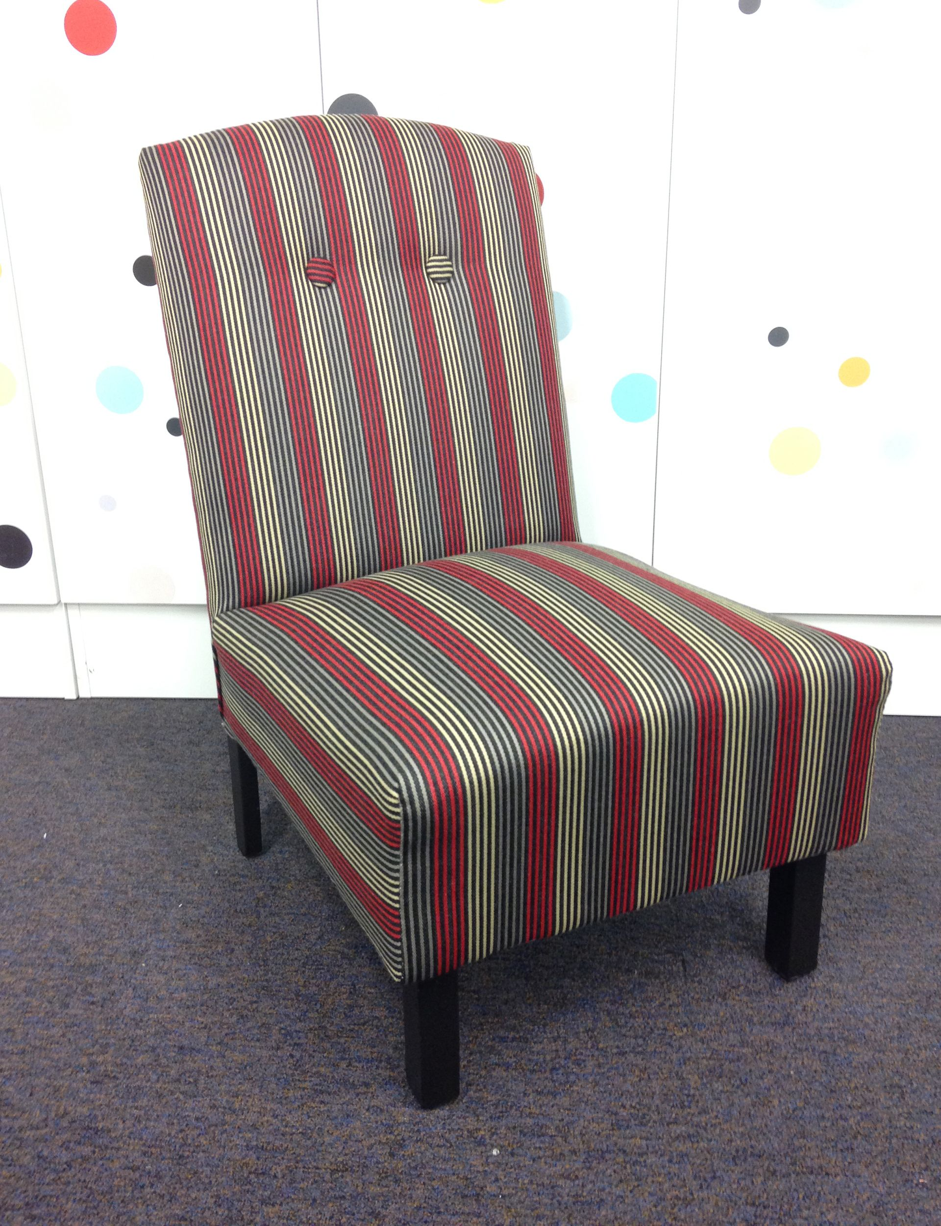 Your step by step guide to reupholstering an armless chair - How to reupholster a living room chair ...