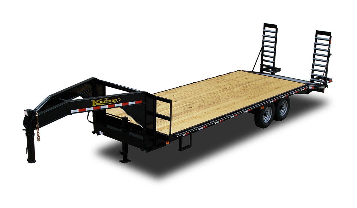 14,000 GVWR 24 ft. Gooseneck Trailer Standard - by Kaufman Trailers    Gooseneck trailer, Flatbed trailer, Flatbed trailer for salePinterest