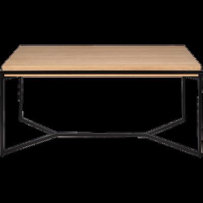 Table De Repas Rectangulaire Bois Et Acier 6 Places Cesarine Table Furniture Metal Furniture