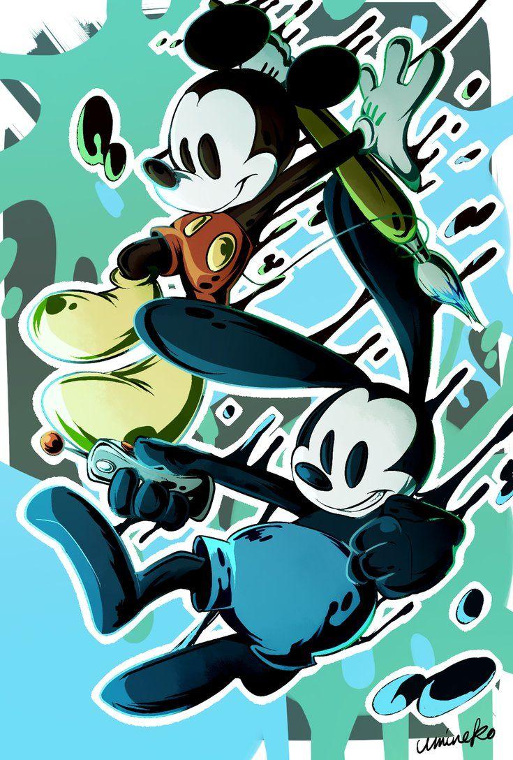 Epic Mickey by umineko3234   Disney   Pinterest   Fondos, Fondos de ...