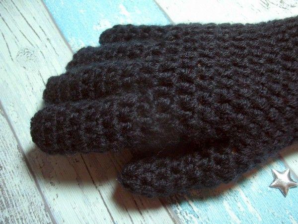 Warme Finger-Handschuhe schnell gehäkelt Häkelanleitung | handschuhe ...