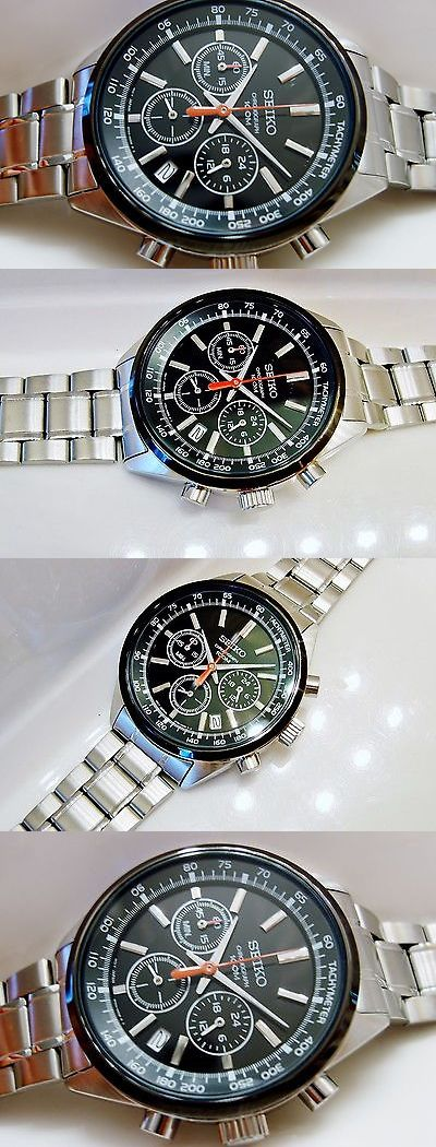 Other Watches 166739: New Seiko Ssb045 Mens Modern Non-Working Sample 100M Chronograph Watch 6T63 00B0 -> BUY IT NOW ONLY: $40 on eBay!